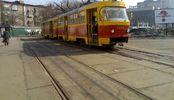 Трамвай сошел с рельсов в Киеве: есть видео
