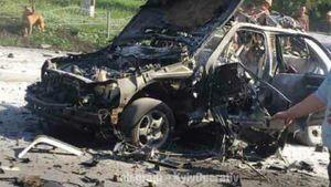 З'явилося відео моменту вибуху автомобіля в Києві