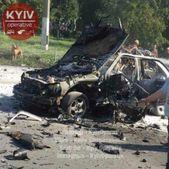 Появилось видео момента взрыва автомобиля в Киеве
