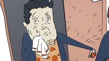 Не йди! — карикатура про героя тижня Абромавичуса