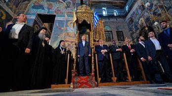 Путін потрапив у труну: соцмережі висміяли його візит на Афон