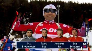 Біатлон. Чоловіча збірна Норвегії виграла другу поспіль естафету в рамках Кубка Світу