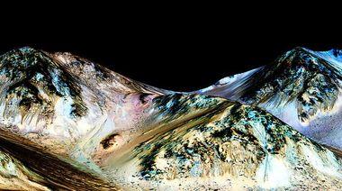 Ученые нашли следы от соленой воды