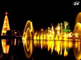 Fonte do Ibirapuera - фотнат расположен прямо посреди озера