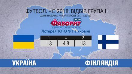 Що пророкують букмекери у матчі України проти Фінляндії