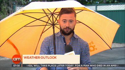 В Ірландії ведучого прогнозу погоди сильний вітер здув із кадру: курйозне відео