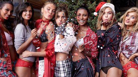 """""""Ангели"""" Victoria's Secret готуються до новорічних свят в мереживній білизні та затишних піжамах"""