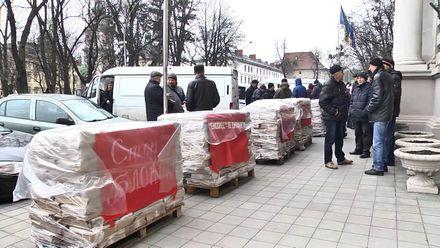 """Редакція газети """"Експрес"""" удруге вийшла на акцію протесту"""