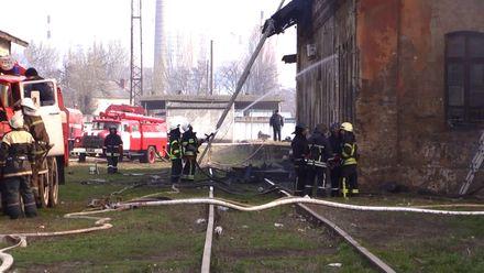 В Одесі горіли склади залізничної станції: відео