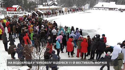 """На Крещение в """"Буковеле"""" состоялся XI фестиваль моржей"""