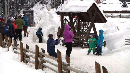 В Буковеле состоялся фестиваль снежных фигур