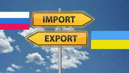 Україна різко збільшила імпорт продукції з Росії