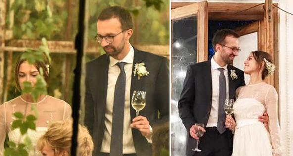 Закрите весілля політика Сергія Лещенка та Анастасії Топольскої відбулось в  оранжереї національного комплексу