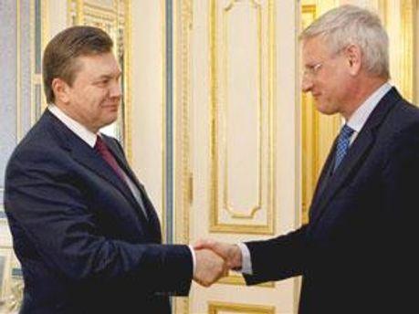Президент України та голова МЗС Швеції Карло Більдт