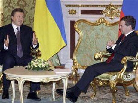 Віктор Янукович та Дмитро Медвєдєв