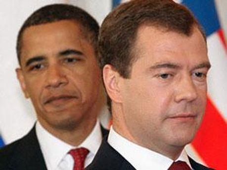 Дмитро Медвєдєв та Барак Обама