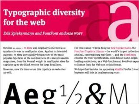 Web Open Font Format дозволить інтегрувати нестандартні шрифти в сторінку