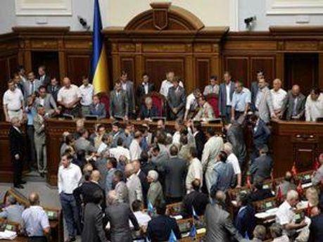 Зрив засідання Верховної Ради України стає звичним явищем