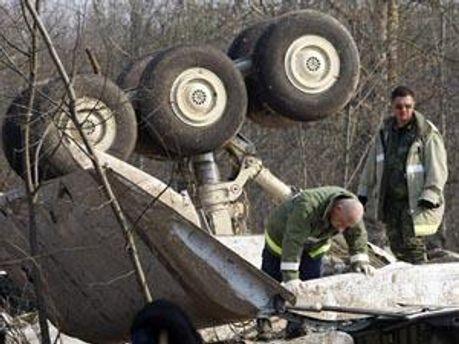 Рештки літака Ту-154
