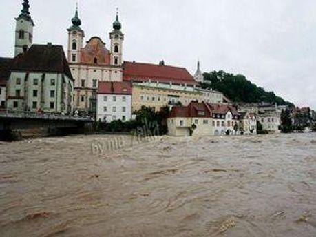 Сильний циклон привів до повеней в Нижній Австрії