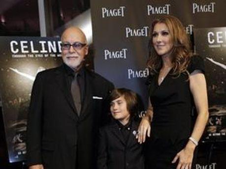 Селін Діон з чоловіком і сином