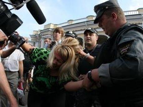 Міліція затримує учасників несанкціонованого мітингу
