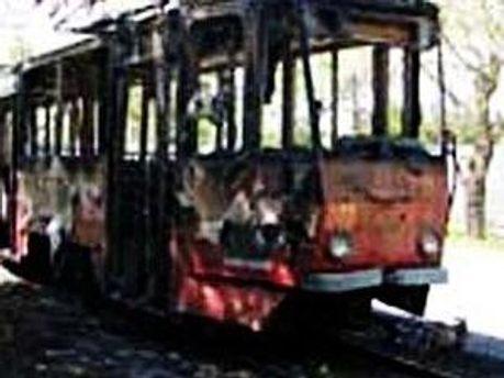 У Львові згорів трамвай