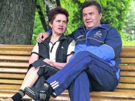Віктор Янукович із дружиною Людмилою