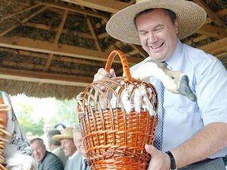 Янукович поляюбляє Сорочинський ярмарок