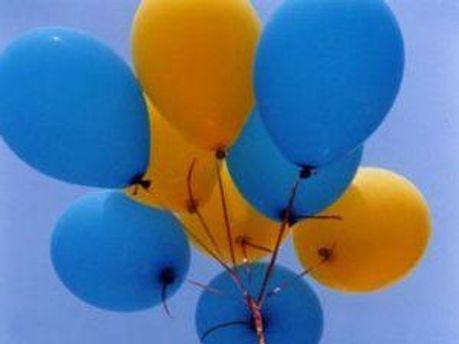 Сині та жовті кульки