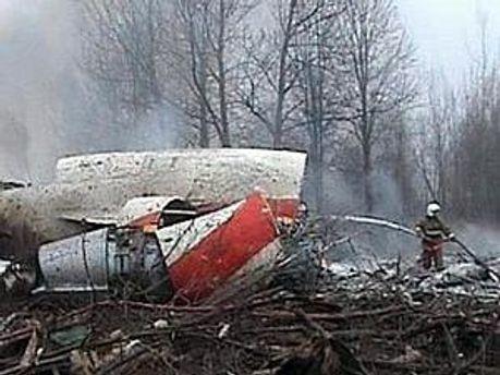 Кадр з катастрофи президентського Ту-154