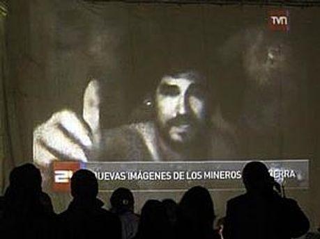 Кадр з відео з чилійськими шахтарями