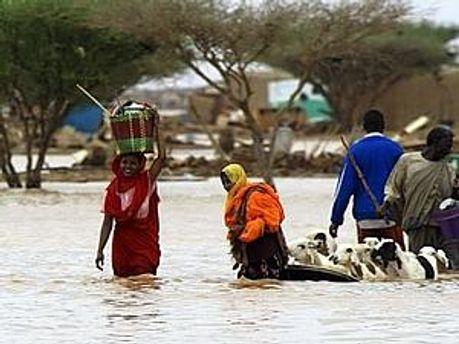 Повінь у Судані знищила 10 житлових районів