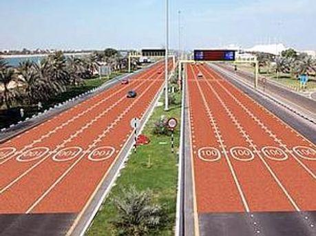 Червоний асфальт на дорогах столиці ОАЕ планується застосовувати, в першу чергу, в житлових зонах