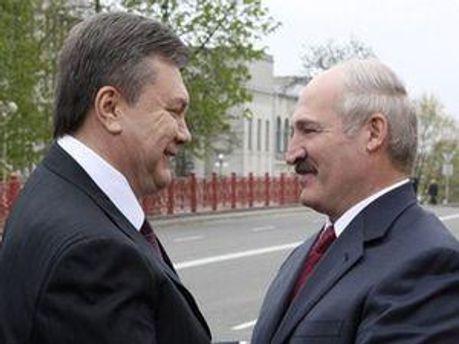 Віктор Янукович та Олександр Лукашенко