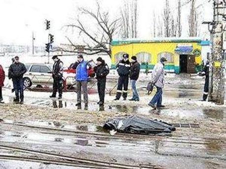 Водій трамвая залишив місце ДТП