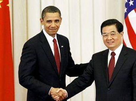 Барак Обама та Ху Цзіньтао