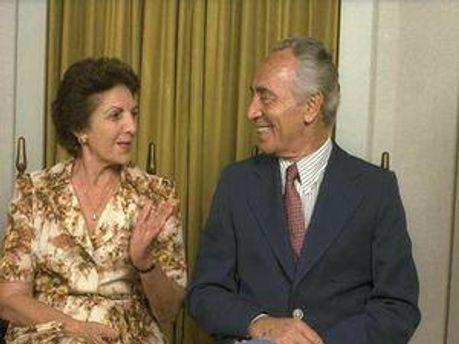 Шимон Перес із дружиною