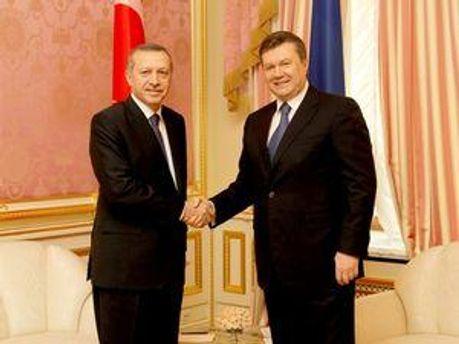 Реджеп Таїп Ердоган та Віктор Янукович