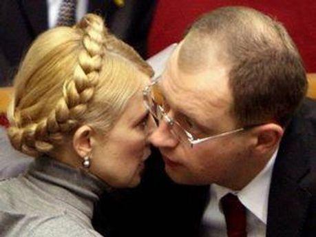Юлія Тимошенко та Арсенія Яценюк