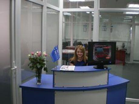 Приймальня офісу компанії на станцій метро