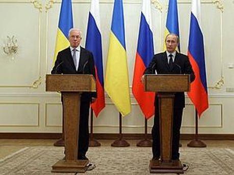 Микола Азаров і Володимир Путін