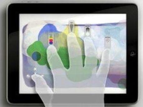 Кончиками пальцев можно работать в Share Photoshop