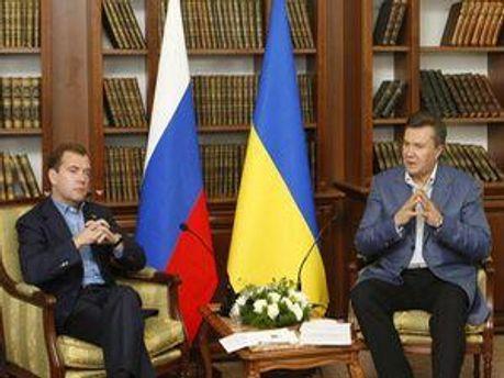 Дмитрий Медведев и Виктор Янукович