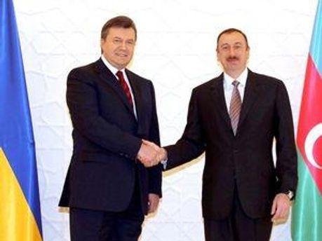Віктор Янукович та Ільхам Алієв