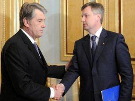 Виктор Ющенко и Валентин Наливайченко
