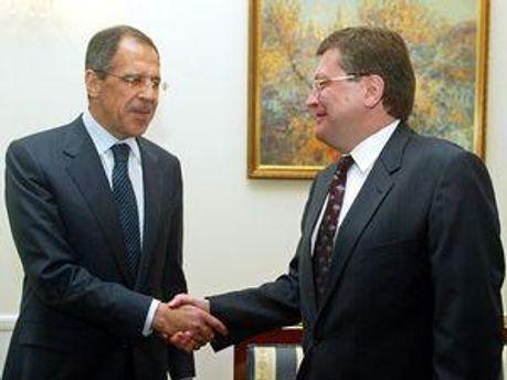 Сергей Лавров и Константин Грищенко