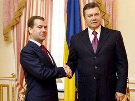 Дмитро Медведєв та Віктор Янукович