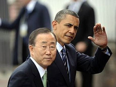 Барак Обама и Пан Ги Мун