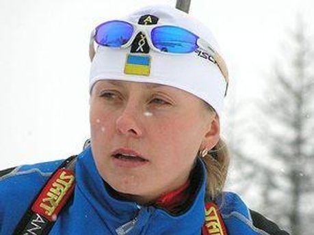 Біатлоністка Оксана Хвостенко